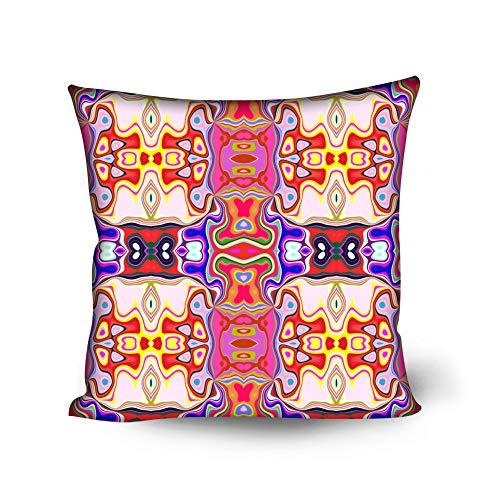 MHUI Fundas de cojín Decorativas para sofá Cama Fundas de cojín de partículas Suaves 18 x 18 Pulgadas 50 x 50 cm,A