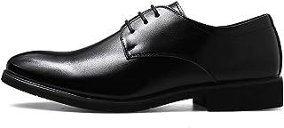 [UPSTONE] ビジネスシューズ メンズ靴 通気快適 オールシーズン レースアップ ビジネス 靴 シューズ 就活 通勤 普段用 プレーントゥ 紳士靴 ブラック