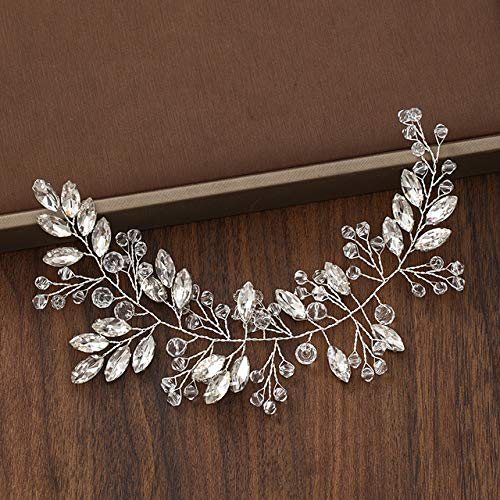 Wonderful Day Hochzeitskopfschmuck Perlkristall Stirnband Brauthaarzubehör Kopfbedeckung Frauen Handgemachte Tiara Hochzeitshaarschmuck Schmuck, Silber
