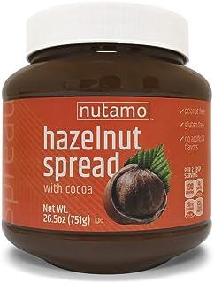 Nutamo Hazelnut Spread with Cocoa, All Natural Non-GMO No Peanut Gluten Free Topping, 26.5 Oz