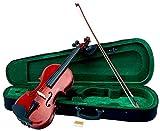 Classic Cantabile VP-100 Violinenset 4/4 (Einsteiger/Schülerinstrument, Geige, Boden & Zargen aus Ahorn, Massive Fichtenholz Decke, inkl. Etui, Bogen und Kolofonium)