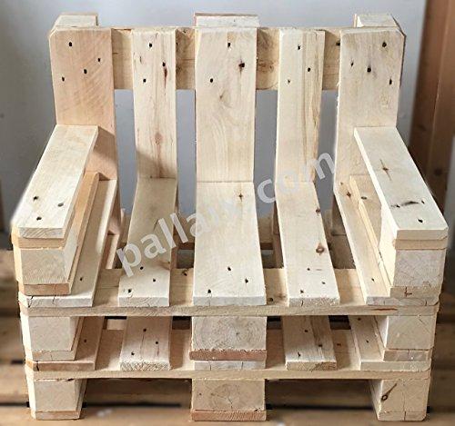 Palettenmöbel ~ 2 Sessel aus Europaletten ~ 2 Palettensessel ~ 2 Lounge Sessel