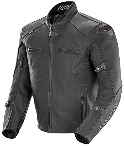 Joe Rocket 1536-2046 Hyperdrive Men's Leather Motorcycle Jacket Perforated (Black, Size 46)