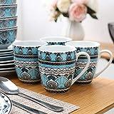 VEWEET, Tafelservice Serie 'Audrie' aus Porzellan, 32-teilig Kombiservice beinhaltet 10,75 '' Speiseteller, 7,5 '' Desserteller, 5,5 '' Schüssel und 380ml Kaffeebecher,Komplettservice für 8 Personen - 3