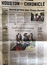 Houston Chronicle, August 24, 2017 : Storm grows into Texas threat, Gulf's environment is in hot water, and various