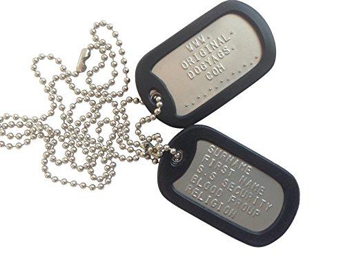 Piastrine di identificazione militari con scritte in rilievo, personalizzabili
