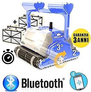immagine di MAYTRONICS Dolphin SF60 Bluetooth Smart Timer Digital Top Gamma - Robot Elettrico Pulitore per Piscina Fino a 15 Mt - Top Gamma - Esclusiva Italia