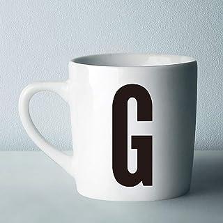 DTZNフォーマルレターコーヒーマグ320Ml-26初期モノグラムパーソナライズレターセラミックマグコーヒーカップ-ホリデークリスマスハヌカギフト-G