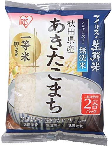 【精米】アイリスオーヤマ 秋田県産 あきたこまち 無洗米 生鮮米 新鮮個包装パック 2合パック(300g) 令和元年産 ×30個