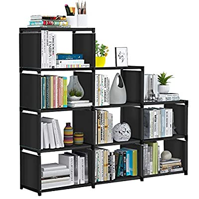 VOJUEAR DIY 9-Cubes Closet Storage Bookcase Organizers for Kids,Bookshelf with for Home,Office,Bedroom,Home Furniture Storage