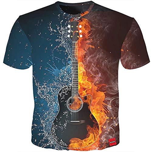 iClosam Herren T Shirt 3D Druckten Sommer Funny Tees Printed Rundhalsausschnitt Shirts (Style1, L)