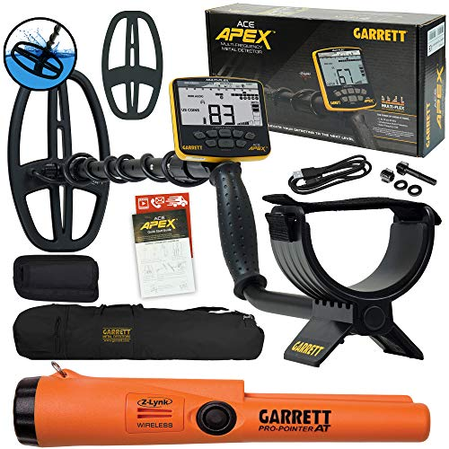 Garrett ACE APEX Metal Detector with Garrett Pro-Pointer at Z-lynk and Carry Bag