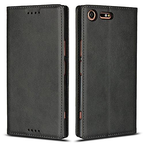 Copmob Funda Piel Sony Xperia XZ Premium,Flip Billetera Funda de Cuero,[3 Ranuras][Función...