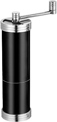コーヒーグラインダー、円筒形グラインダーハンドクランク、家庭用ポータブルステンレススチール太字厚い手動グラインダー