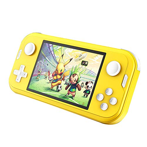 Handheld Game Console 3.5inch Mini Retro Gaming Player 700 Classical NES SNES MD GBA GBC GB Arcade Games Preinstalled IPS Screen Rechargeable Game Consoles Box for Kids Boys Chirldren(Yellow)