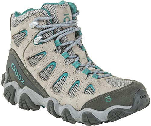 Oboz Sawtooth II Mid Hiking Boot - Women's Drizzle/Aqua 8