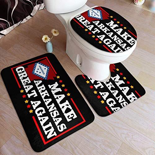 Maak Arkansas weer geweldig Deurmat Tapijt Sets (3 stuks) Keukentapijten 3-delig Tapijt Badkamer Tapijtenset Toiletbril Cover Combo