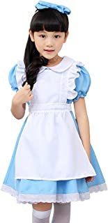 Kids Halloween Party Costume Dress Little Maid Lolita