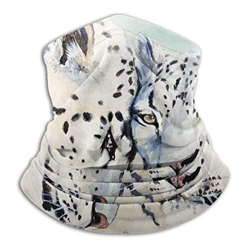 Leopardo Gato Animal Acuarela Arte Mascarilla Cuello Calentador Collar Bufanda Bandana Bufanda Pasamontañas