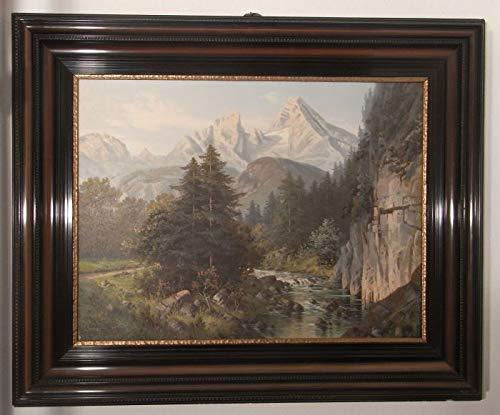 badewannen24 Ölgemälde NASSE Wand UND WATZMANN - Berchtesgaden - Max Nordt