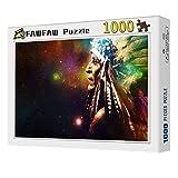 FAWFAW Puzzle 1000 Piezas, Espacio Indio, Universo Místico, 1500/1000/500/300 Piezas, Grandes Ilustraciones del Juego De Rompecabezas