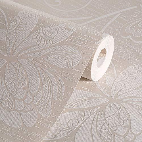 jeerbly - Papel pintado no tejido, diseño moderno de lirios japoneses, patrón floral, decoración de salas de estar, dormitorios o pared tras la televisión