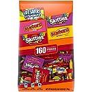 STARBURST, SKITTLES & LIFE SAVERS Gummy Mixed Bulk Halloween Candy Assortment - 60.25oz/160ct Pack 6