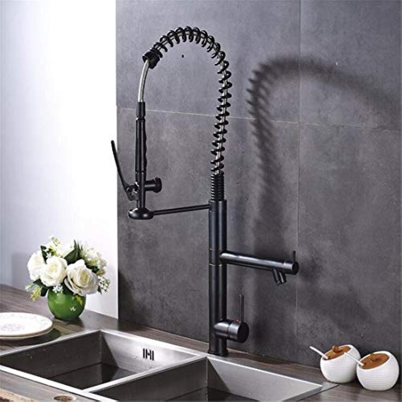 Küchenarmatur Aus Verchromtem Messing Luxus l Eingerieben Bronze Deck Montiert Zwei Auslauf Küchenmischer Wasserhahn Einzigen Griff