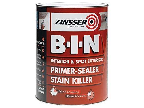 Zinsser zinbin1l 1 litre b.i.n Apprêt/peinture pour 1 L