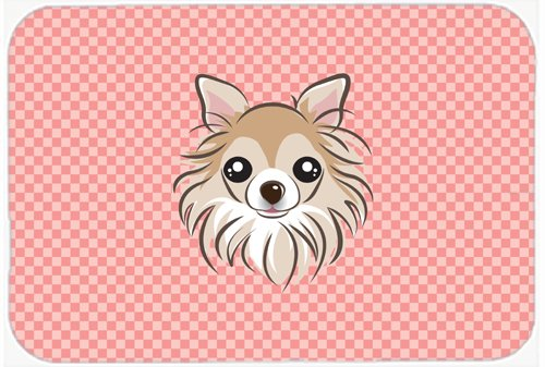 Caroline's Treasures BB1251MP Checkerboard Pink Chihuahua Mouse Pad, Hot Pad or Trivet, Large, Multicolor