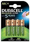 Duracell Recharge Ultra AA Mignon Akku Batterien, LR6 2500 mAh, 4er Pack