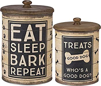 Primitives by Kathy Rustic Treat Tin 2-piece Sleep Bark Repeat