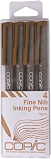 Copic Markers Multiliner Sepia Pigment Based Ink, 4-Piece Set