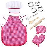 NOBRAND Juguete de Cocina Kids Play Girl Pretend Play Juegos De Vajilla Juguetes Cocina Cocina Simulación Miniatura Delantal Cocina Juguetes Set para Niños Regalos Color Aleatorio
