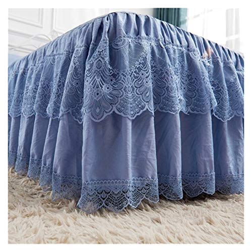 HNTKSM Bed Skirt Bed Base Cover Bett Rock Polyester-Baumwolle 150/180 / 200x200cm Bequeme Breathable Multi-Color-Bett Covering (Color : 1, Size : 180x220x45cm)