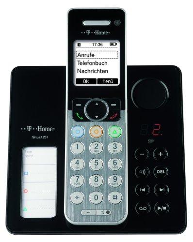 T-Home Sinus A 201 DECT Schnurlostelefon mit Anrufbeantworter