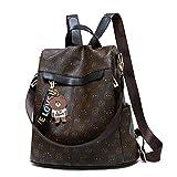 Mochila de las mujeres antirrobo impermeable mochila casual monedero de cuero de la PU bolsa de hombro de la escuela ligera