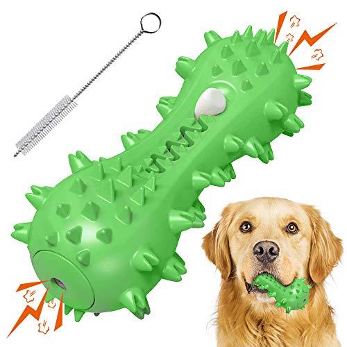 Kauspielzeug für Hunde, Zahnbürsten-Stick, Hunde Kauspielzeug für Aggressive Kauer, Hundezahnbürste Ungiftiges Naturkautschuk, Quietschspielzeug für Große Mittlere Hunde