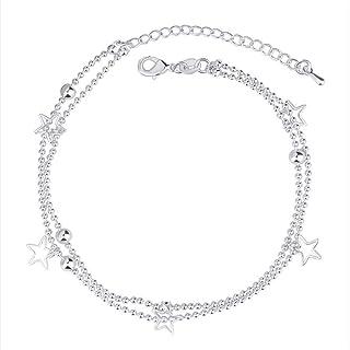 金桥Accessori della cavigliera del braccialetto di modo della stella a cinque punte dei gioielli S925