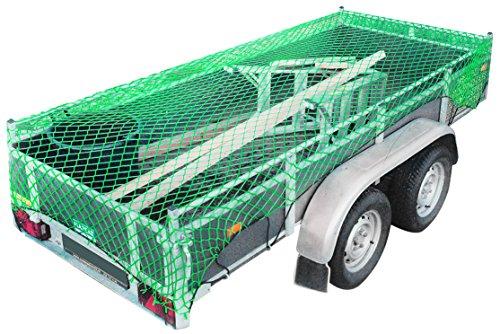 Relaxdays 10018601 Anhängernetz PP Transportsicherung, 3 m, Grün