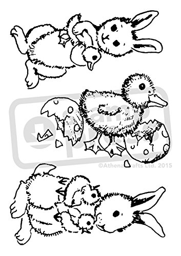 A7 'Easter Animals' Unmounted Rubber Stamp (SP00002635)