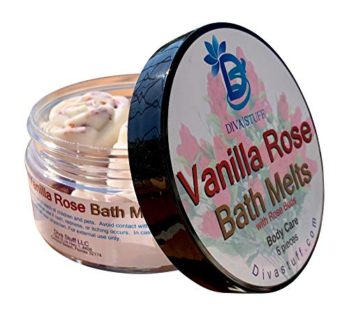 Vanilla Rose Skin Softening Slow Melt Bath Melts With Cocoa Butter and Shea Butter, Diva Stuff