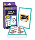 Carson Dellosa Time and Money Flash Cards—Kindergarten-Grade 3, Telling Time With Clocks, Counting Money With US Currency, Elementary Math Practice (54 pc)