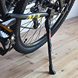 "Cavalletto Regolabile per Bicicletta, in Lega di Alluminio, cavalletto Laterale, Adatto per Mountain Bike da 24"" 25"" 26"" 27"" / 700c Bici da Strada/BMX/MTB"
