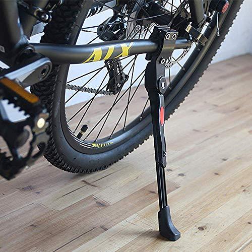 """Cavalletto Regolabile per Bicicletta, in Lega di Alluminio, cavalletto Laterale, Adatto per Mountain Bike da 24"""" 25"""" 26"""" 27"""" / 700c Bici da Strada/BMX/MTB"""