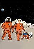 FPUYB The Adventures of Tintin Cartoon Edition Puzzle para niños Adultos 1000 Piezas 75x50 Adecuado para Juegos Familiares, desafío Intelectual para niños en la Fiesta