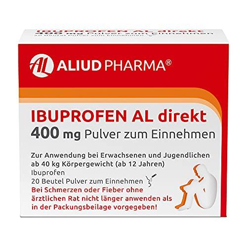 ALIUD PHARMA Ibuprofen AL direkt 400 mg Pulver zum Einnehmen, 20 Beutel: Bei Kopfschmerzen, Regelschmerzen, Fieber