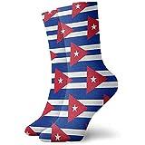 Tammy Jear Cuba Patrón de la bandera cubana Novedad Calcetines cortos deportivos Calcetines deportivos casuales deportivos