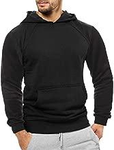 Elogoog Hoodie Mens Solid Long Sleeve Hooded Casual Slim Tracksuits Sweatshirt for Hispter Men