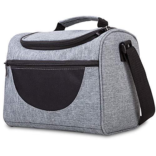 ALY 7ML Sac Isotherme Lunch Bag Sac de Courses, Sac-Glacière Cooler Bag Sac de Repas pour Déjeuner/Travail/Ecole/Plage/Pique-Nique, Gris